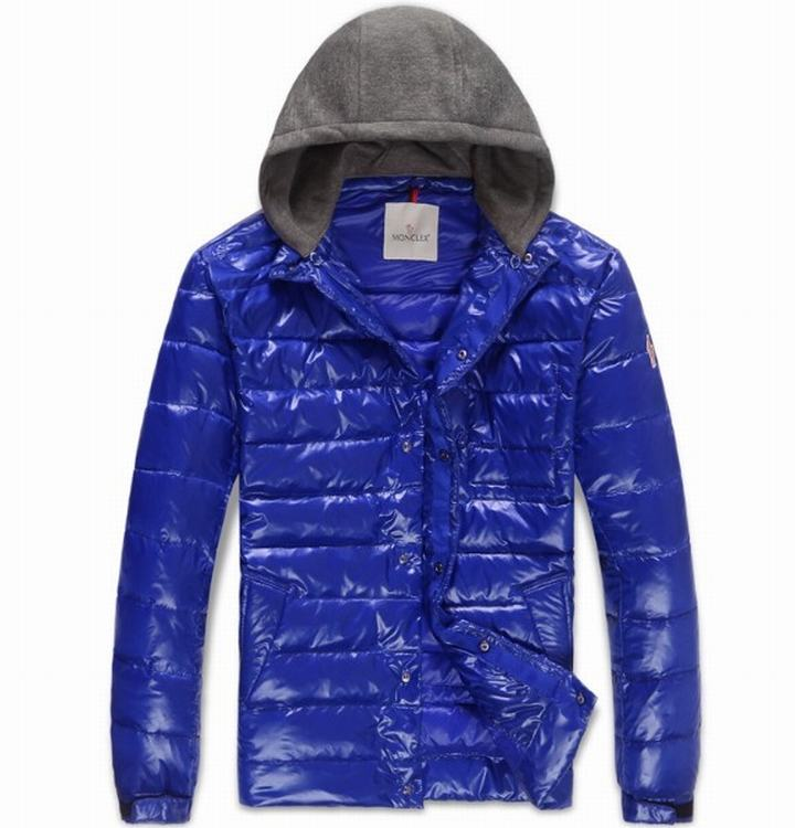 Moncler Alibert Men Coats Royal Blue