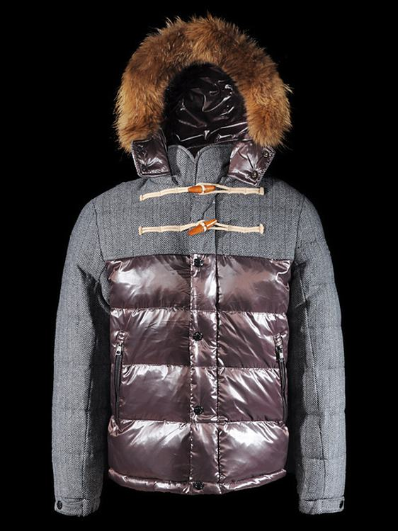 Moncler Anthime Men Coats Grey Red