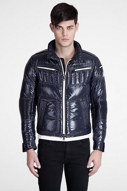 Moncler Bastille Men Coats Blue