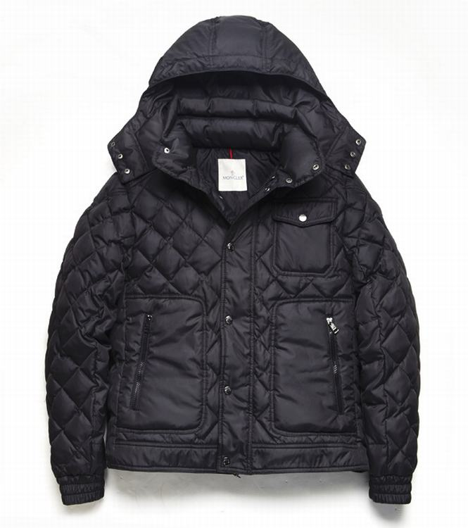 Moncler Bercy Men Coats Dark Red