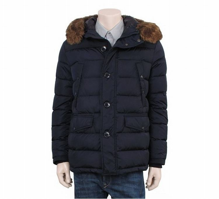 Moncler Charente Men Coats Blue