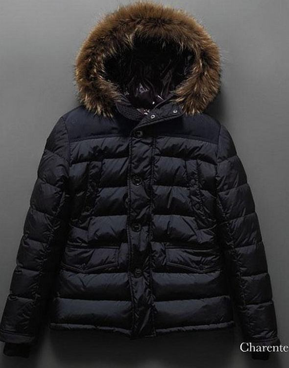 Moncler Charente Men Coats Dark Blue