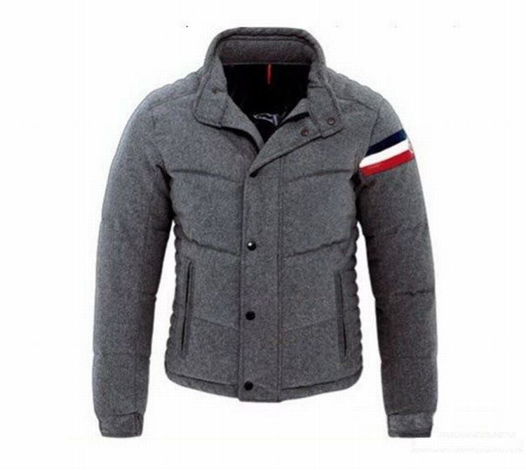 Moncler Chartreuse Men Coats Grey