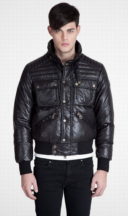 Moncler Columbus Men Coats Black