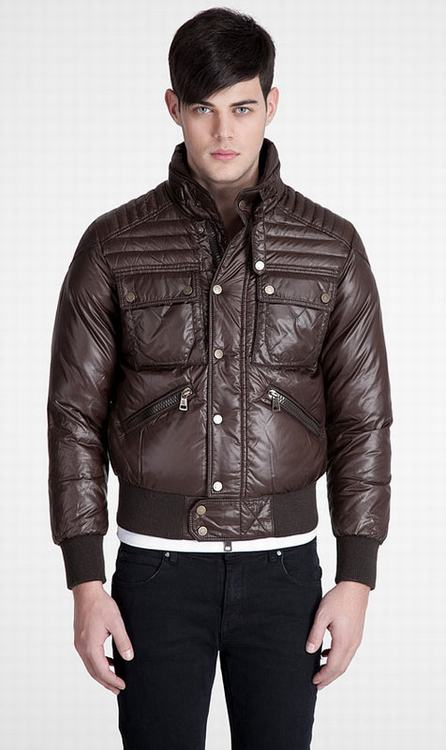 Moncler Columbus Men Coats Brown