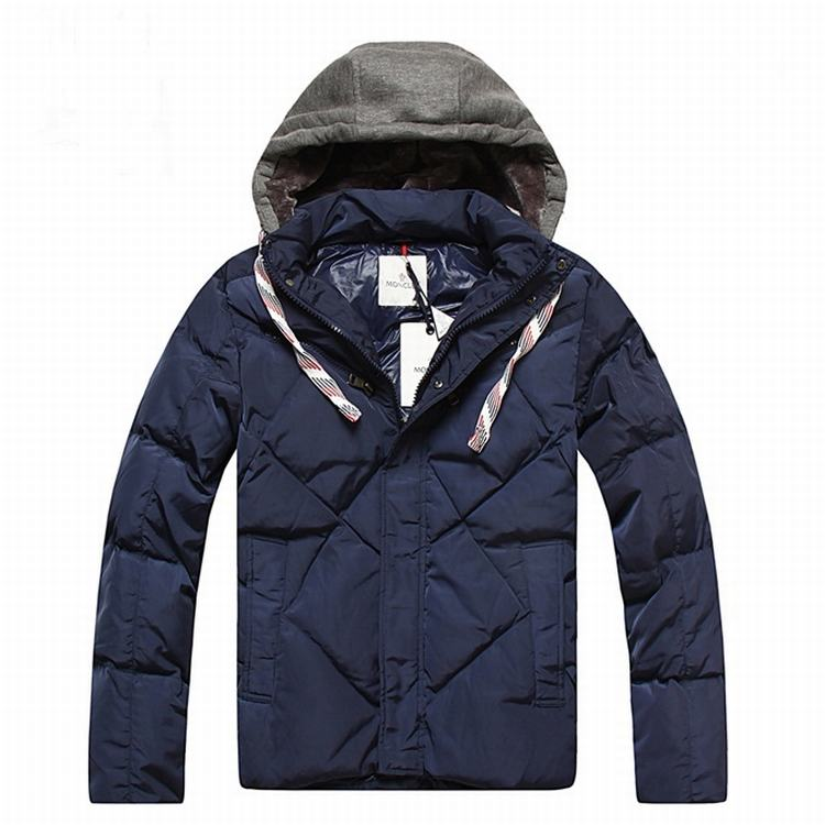 Moncler Domat Men Coats Blue