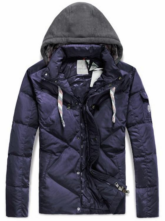 Moncler Domat Men Coats Purple