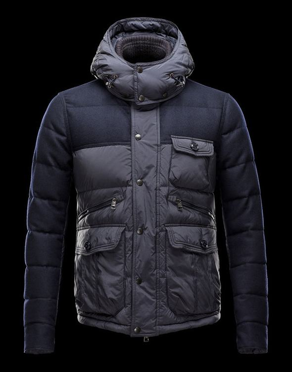 Moncler Egide Men Coats Grey Blue