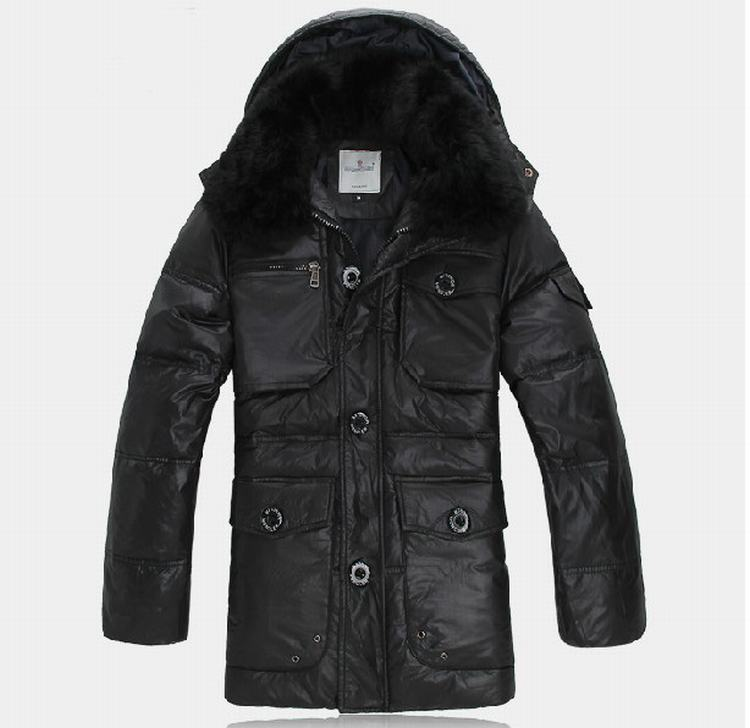 Moncler Gaspard Men Coats Black