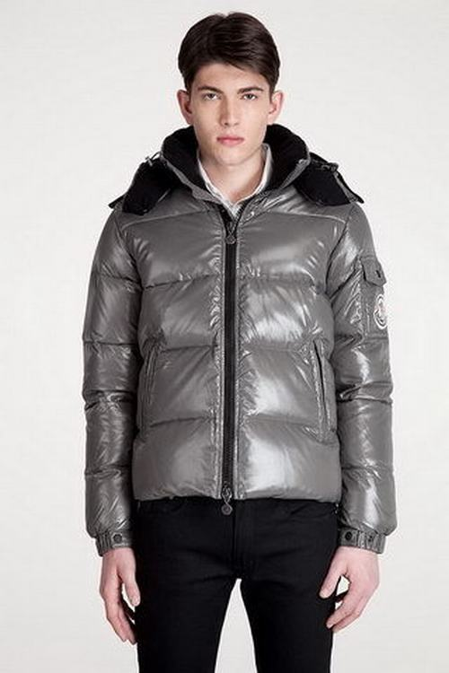 Moncler Himalaya Men Coats Silver Grey