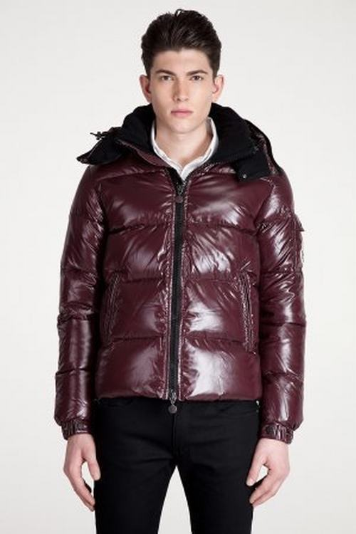 Moncler Himalaya Men Coats Wine Red
