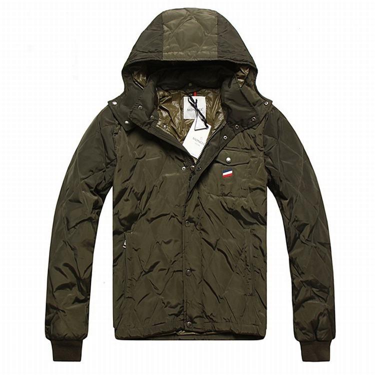 Moncler Maubeuge Men Coats Army Green