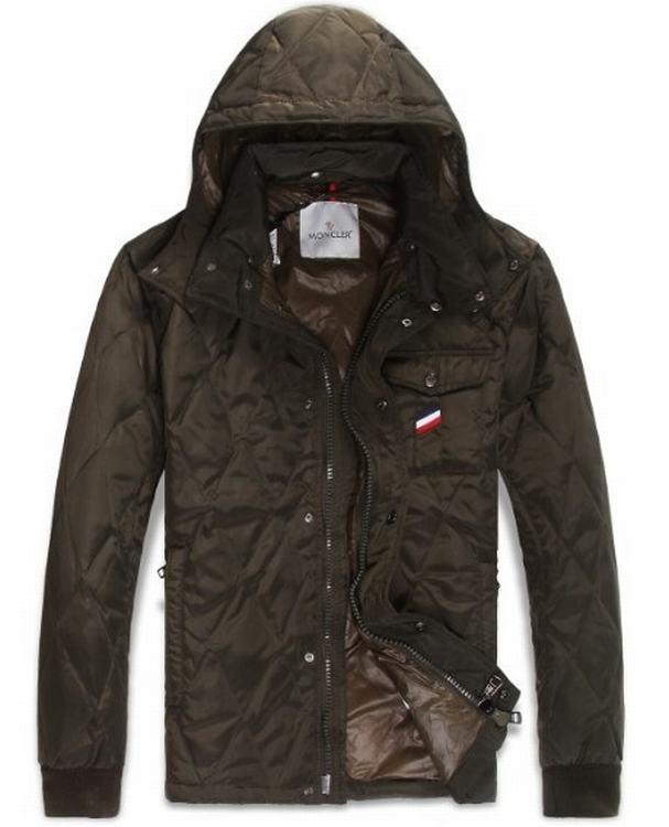 Moncler Maubeuge Men Coats Dark Brown