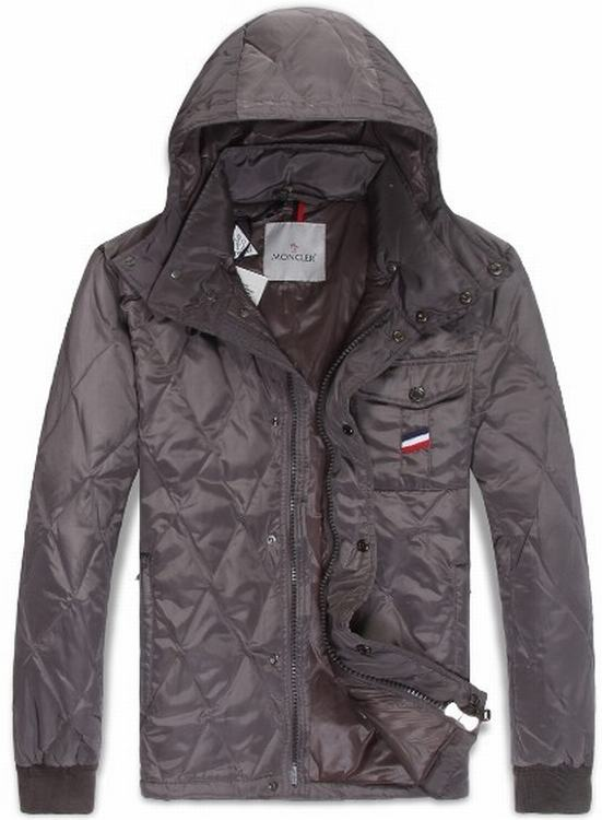 Moncler Maubeuge Men Coats Silver Red