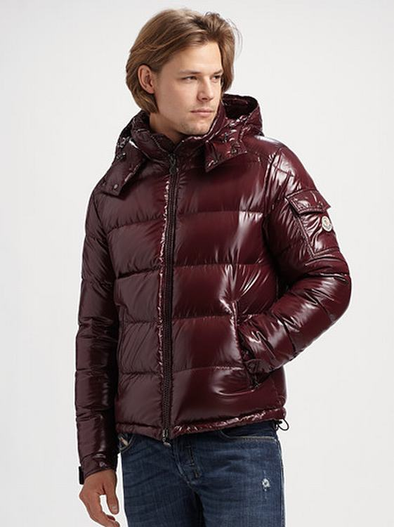 Moncler Maya Men Coats Wine Red