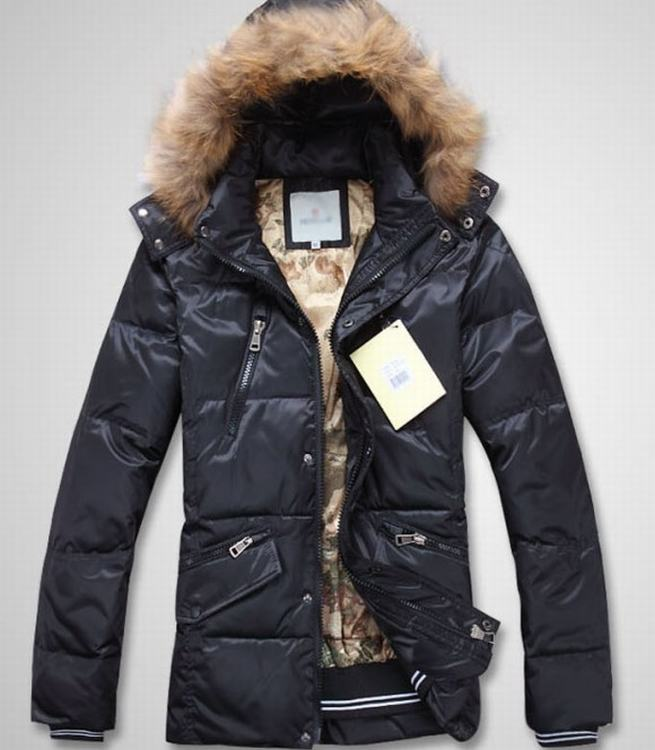 Moncler Men Coats Light Blue