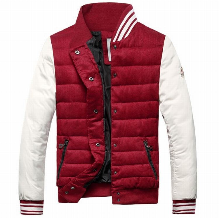Moncler Perigord Men Coats Red White