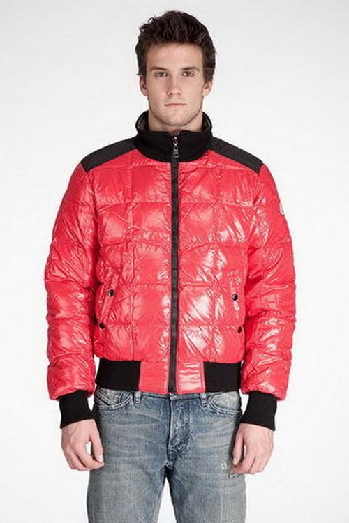 Moncler Racine Men Coats Orange Black