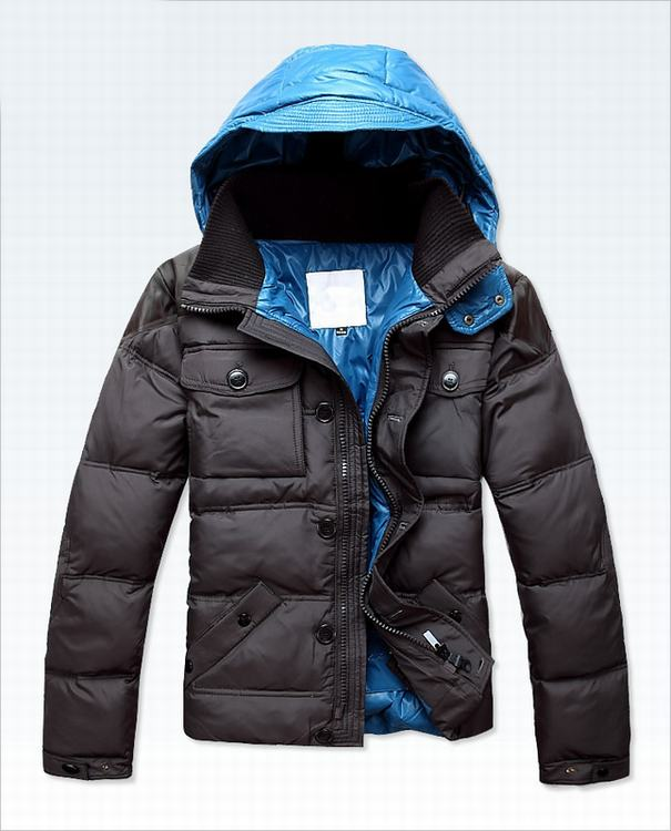 Moncler Rousseau Men Coats Grey Blue