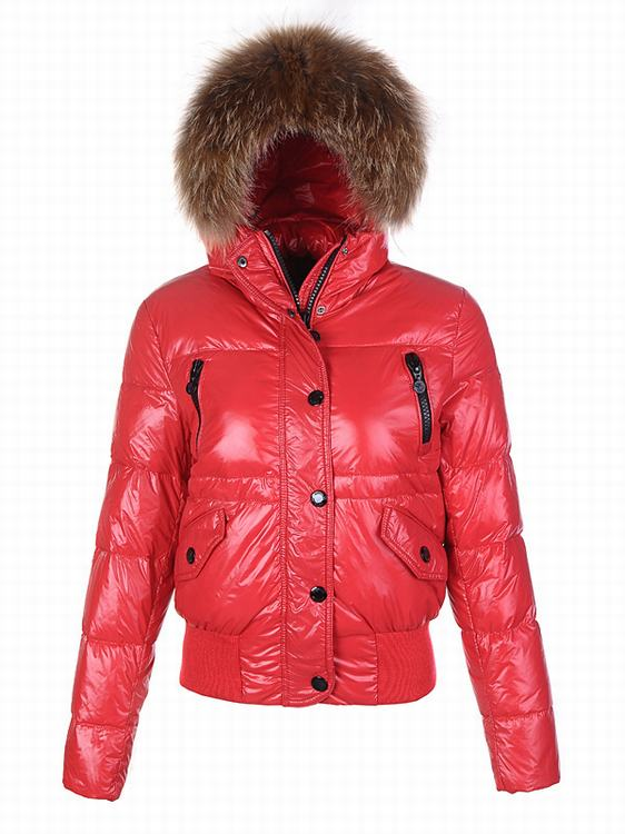 Moncler Breasted Women Coats Red