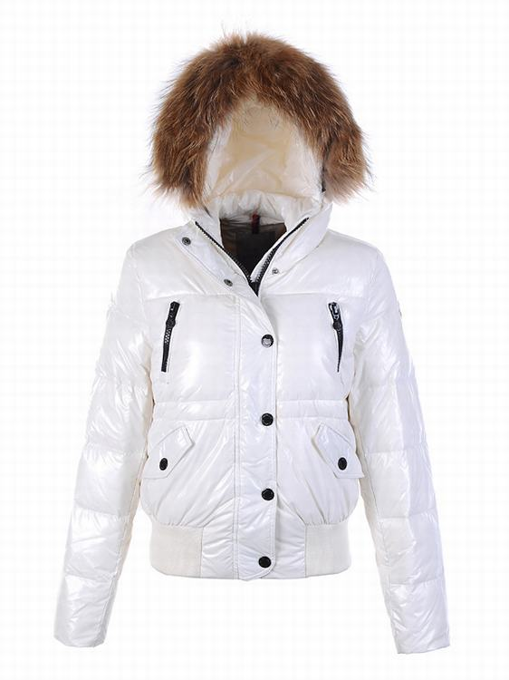 Moncler Breasted Women Coats White