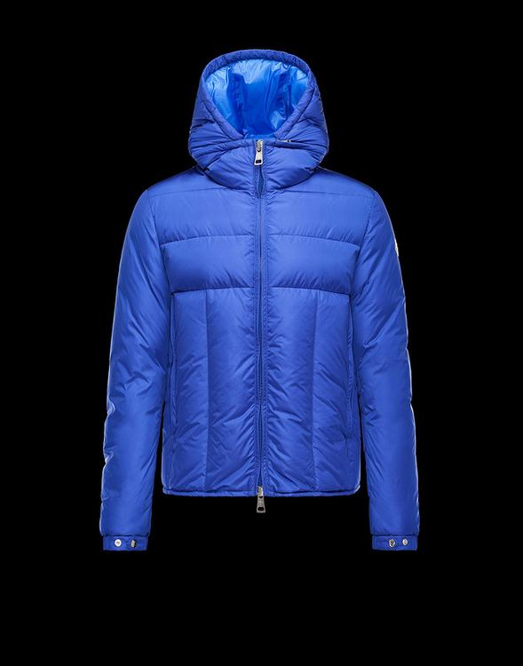 Moncler Barthet Men Coats Blue