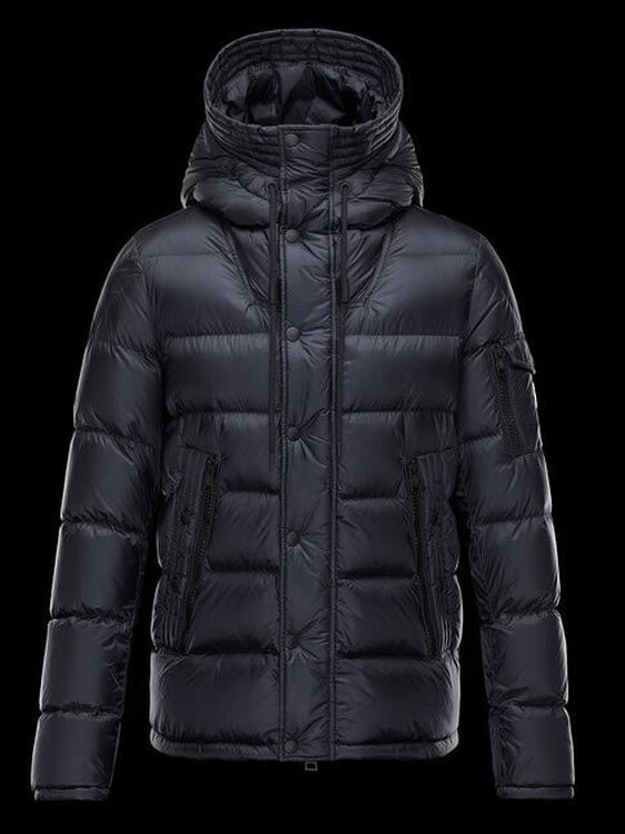 Moncler Basile Men Coats Navy Blue