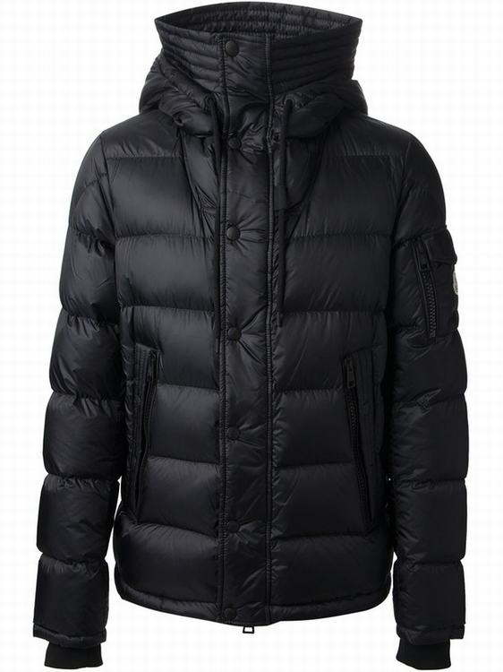 Moncler Basile Men Coats Sky Black
