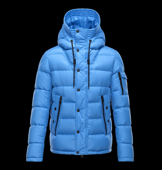 Moncler Basile Men Coats Sky Blue