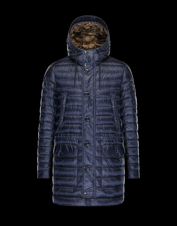 Moncler Benjamin Men Coats Navy Blue