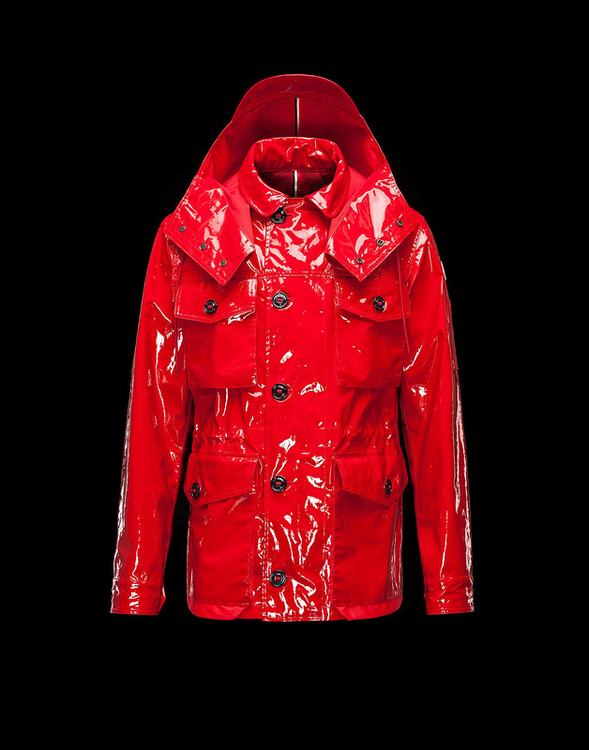 Moncler Bercot Men Coats Gloss Red