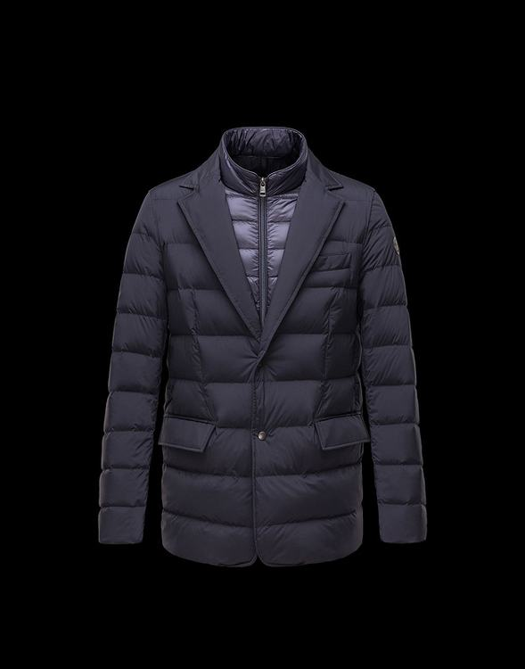 Moncler Ferrand Men Coats Dark Blue