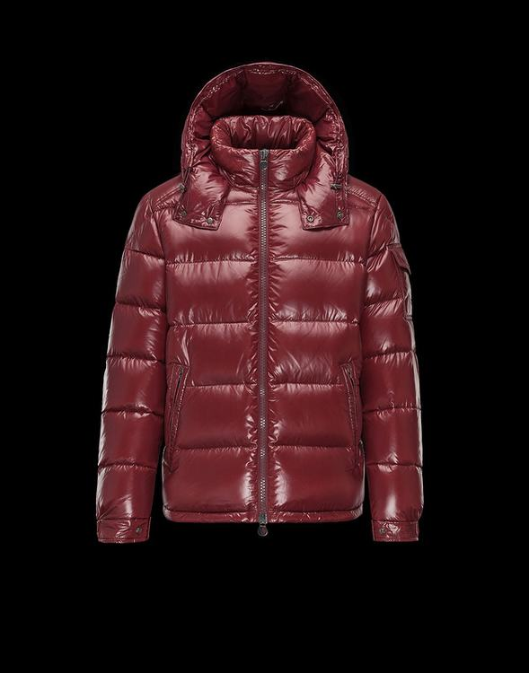Moncler Maya 2017 Men Coats Dark Red