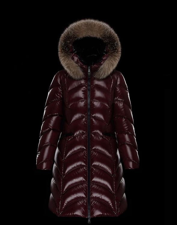 Moncler Albizia Women Coats Wine Red