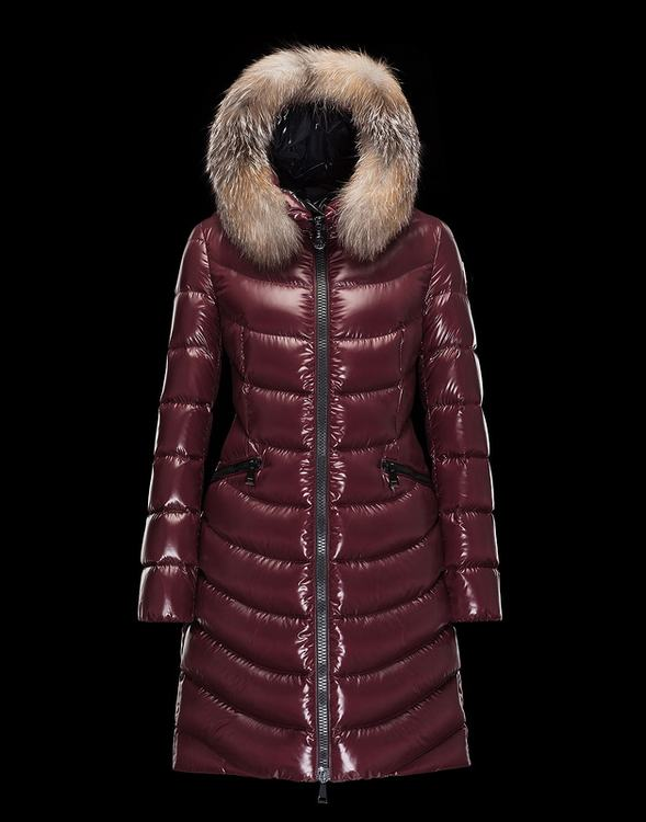 Moncler Aphia Women Coats Wine Red