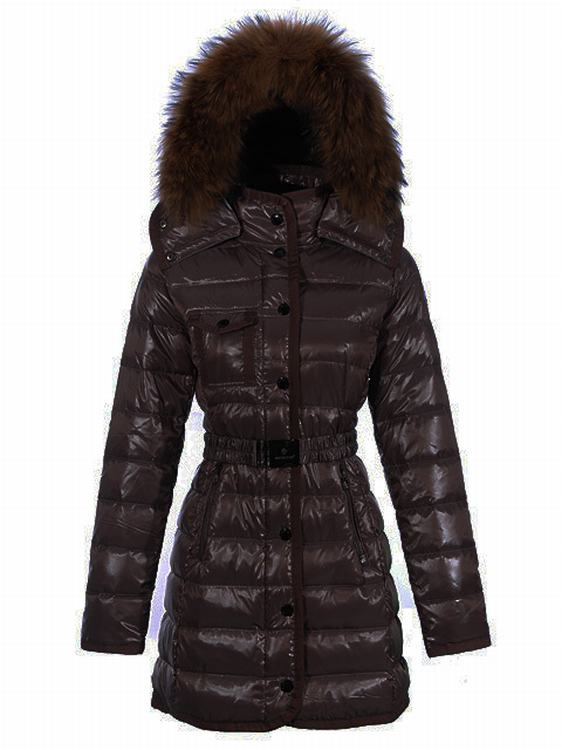 Moncler Armoise Long Women Coats Brown