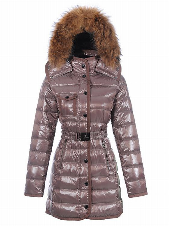 Moncler Armoise Long Women Coats Cherry