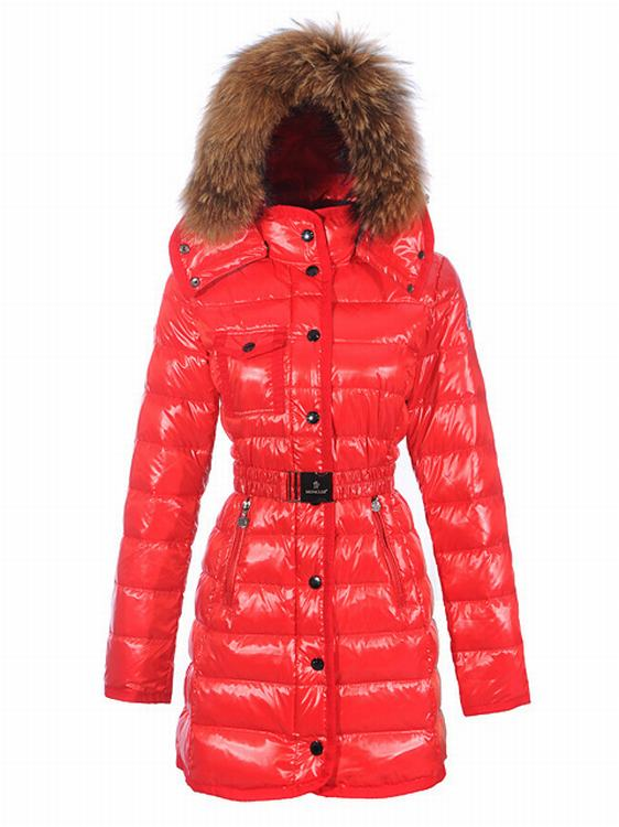 Moncler Armoise Long Women Coats Orange