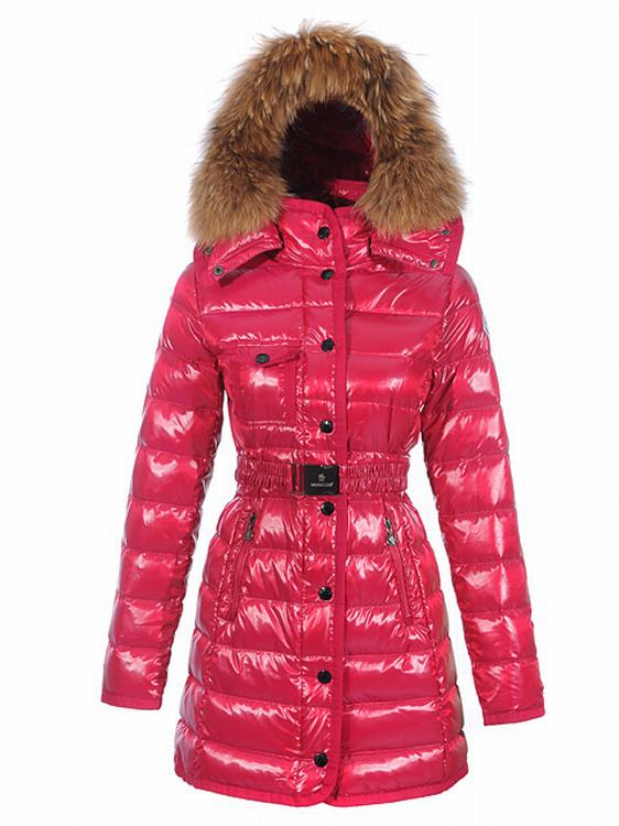 Moncler Armoise Long Women Coats Pink