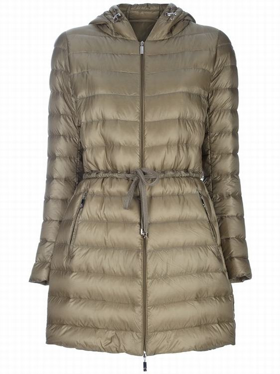 Moncler Aure Women Coats Dark Gold