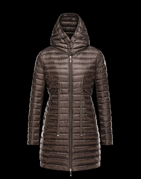 Moncler Barbel Women Coats Brown