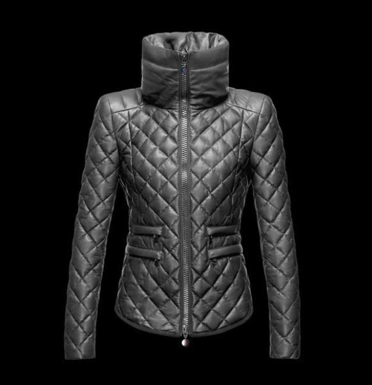 Moncler Femelle Women Coats Grey