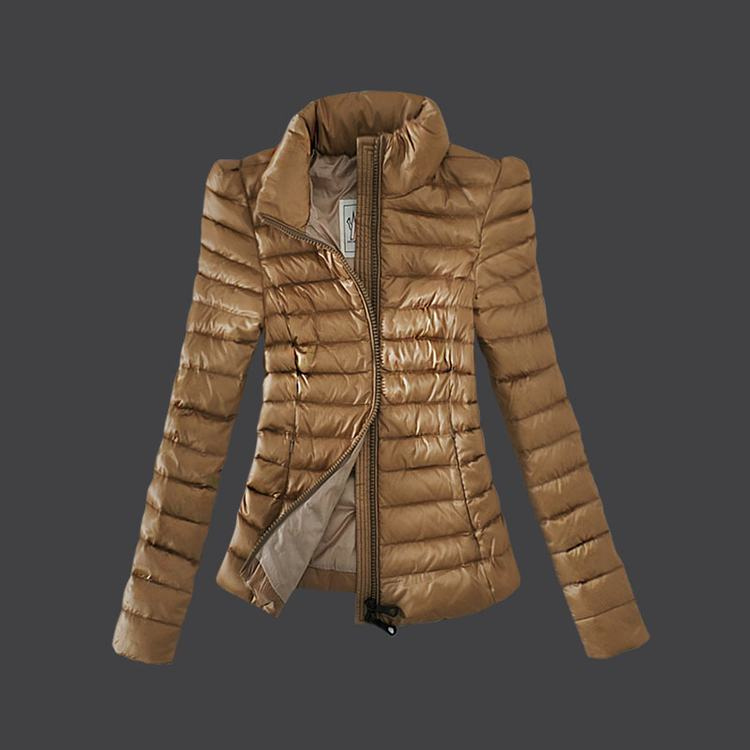 Moncler Grenoble 06 Women Coats Light Brown