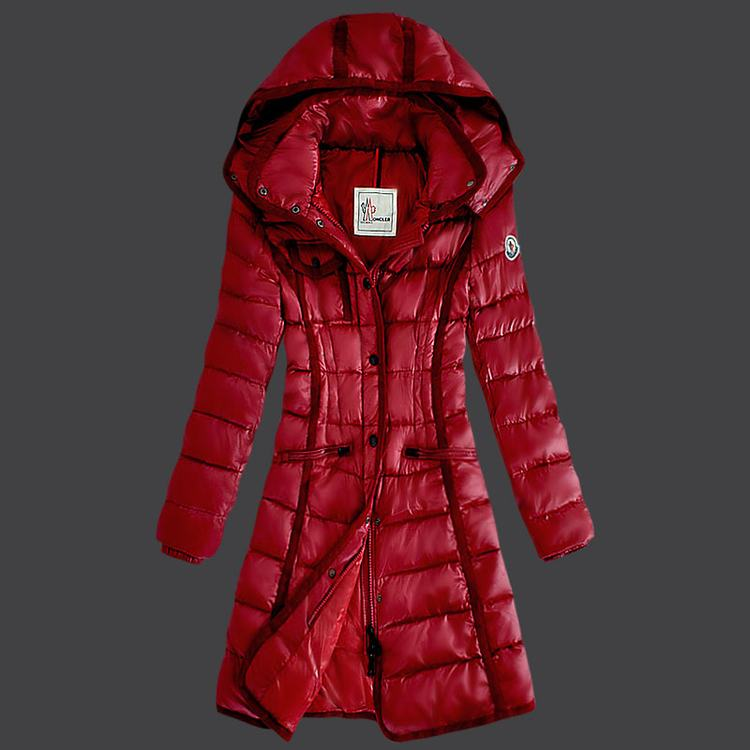 Moncler Grenoble 18 Women Coats Red