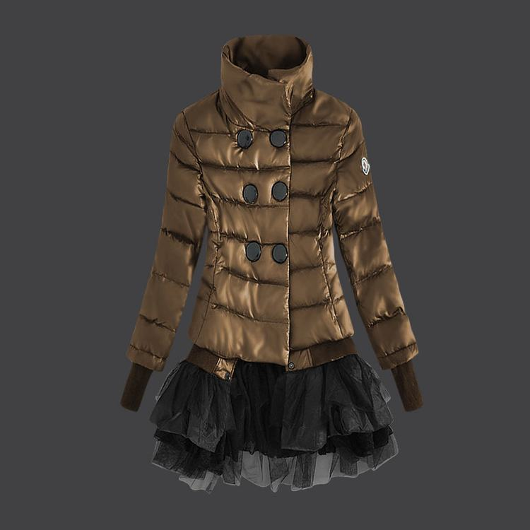 Moncler Grenoble Women Coats Brown