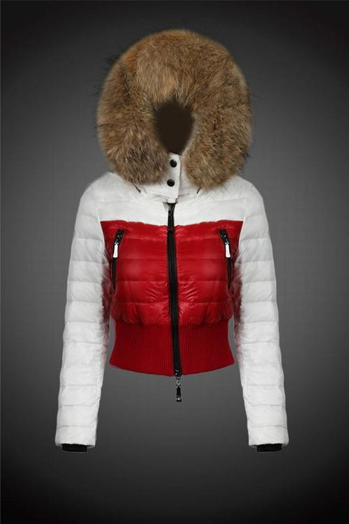 Moncler Jackets One Women Coats White Red