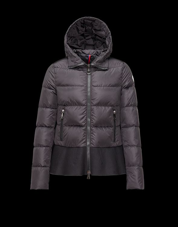 Moncler Nesea Women Black Quilted Puffer Coat W Wool Trim Jacket