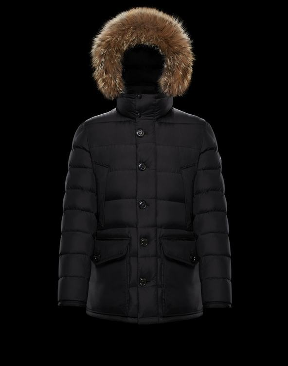 Moncler CLUNY Women Down Coat With Fur Collar Black