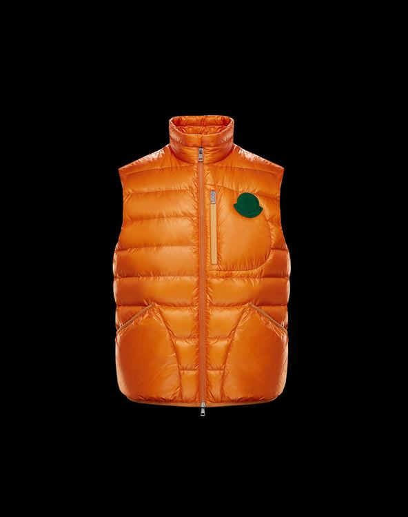 MONCLER 1952 HURON MENS VEST Orange