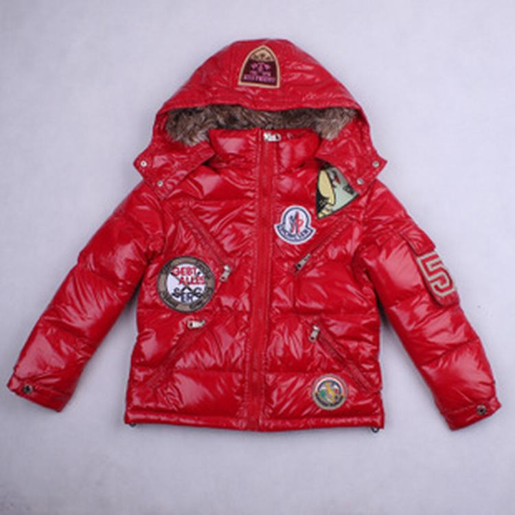 Moncler Badge 01 Kids Coats Red